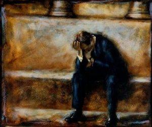 Retrato oscuro del sufrimiento